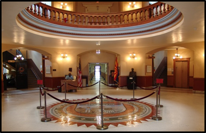 Arizona Capitol Museum rotunda (Source: Arizona State Library Archives and Public Records)