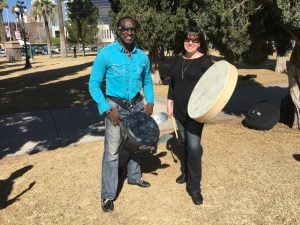 Richard Noel and Sherrie Cox founded Jam2Grow to help refugees express their culture through music while building a new life in the U.S. (Source: Mindy Riesenberg/Cronkite News)
