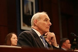 Homeland Security Secretary John Kelly listens to lawmakers' concerns about President Donald Trump's executive orders on border security and on limiting travel to the U.S. from certain countries. (Source: Andres Guerra Luz/Cronkite News)