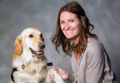 MCAO K9 Victim Support Dog Morgan and her handler and Victim Advocate Carrie Johnson (Source: Maricopa County Attorney's Office)