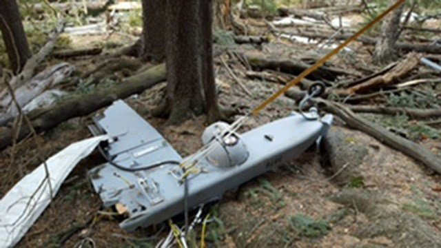 The drone sustained damage. (Source: Fort Huachuca)