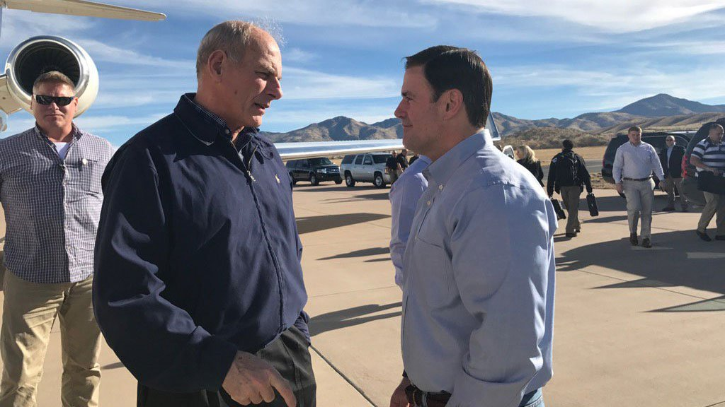 Arizona Gov. Doug Ducey welcomed Home Security Secretary John Kelly to the Grand Canyon State Thursday. (Source: @DougDucey via Twitter)
