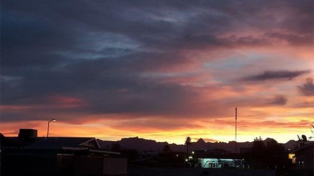 Sunrise in Bullhead City. (Source: Cathy Vitello)