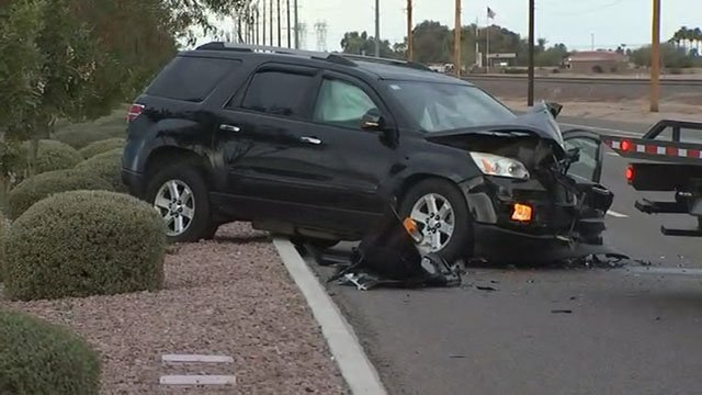 Wrong-way crash on Grand Avenue near Meeker Road. (Source: 3TV/CBS 5)