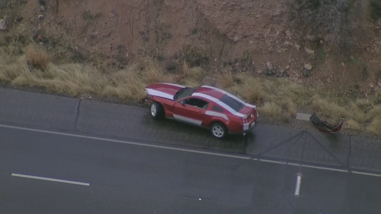 The suspect was driving a red Mustang. (Source: 3TV/CBS 5)