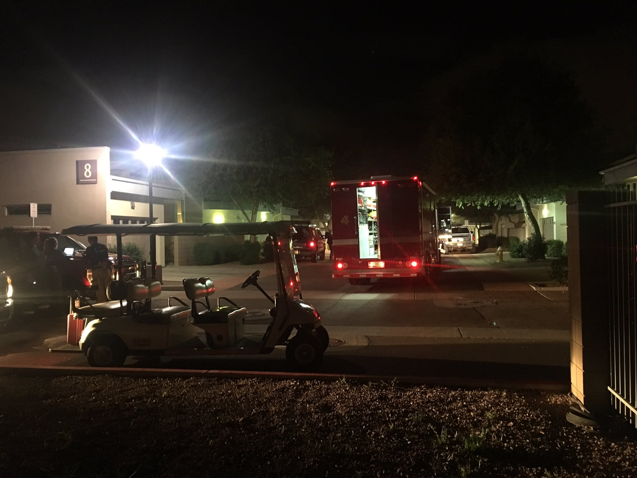 Firefighters tried to determine if uranium found at senior living home was radioactive. (Source: 3TV/CBS 5)