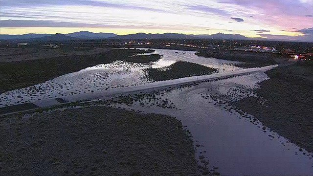 Flooding on McKellips Road at Loop 202 from planned SRP water release. (Source: 3TV/CBS 5)