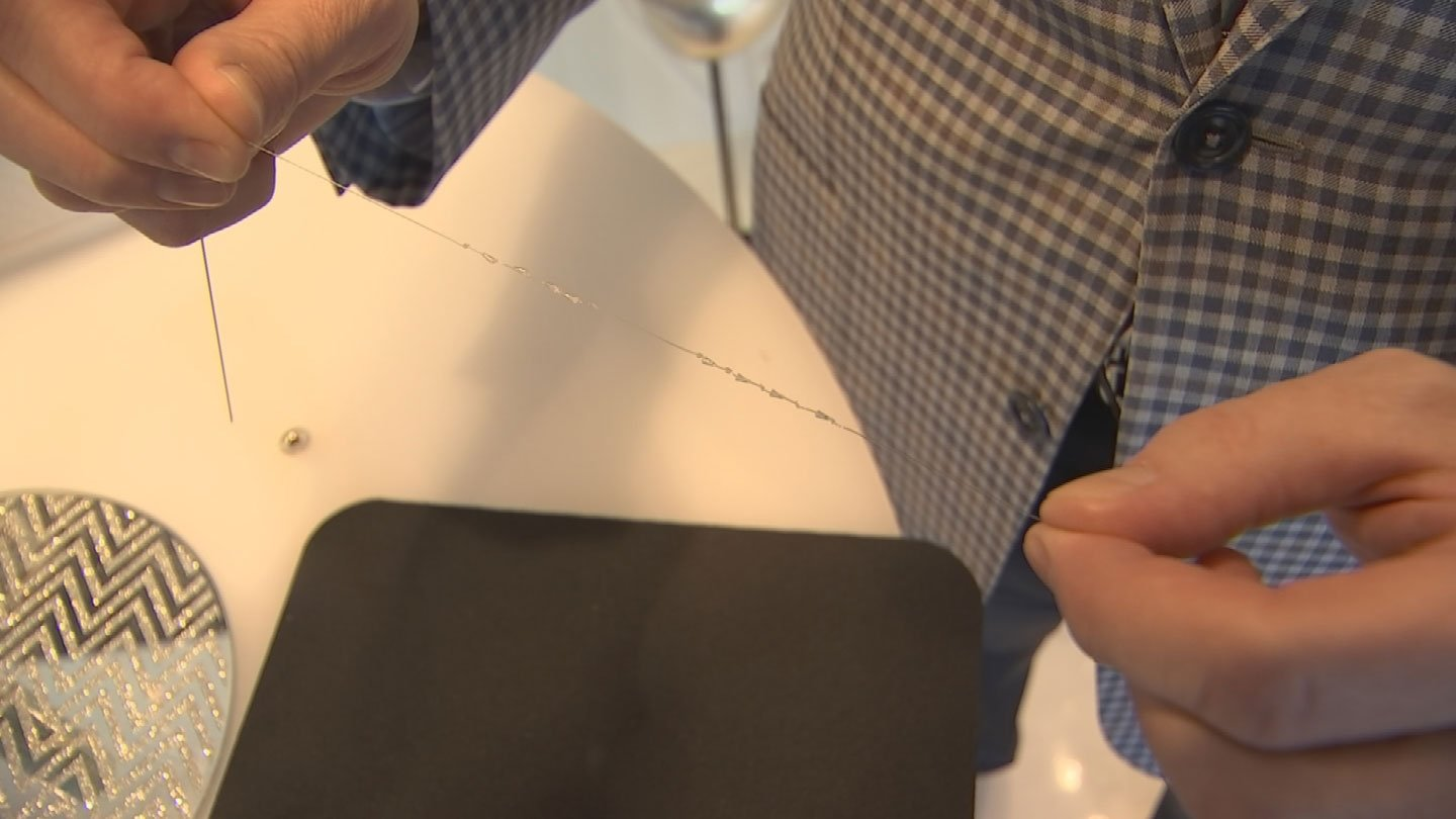 Cones on the sutures lift up the tissue. (Source: 3TV/CBS 5)