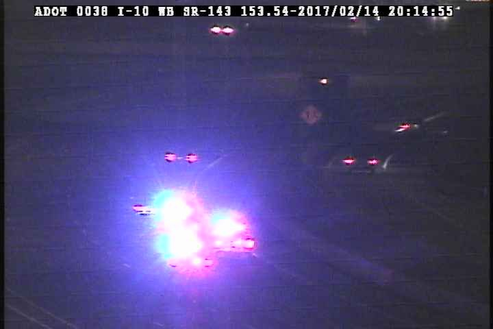 Troopers were chasing a suspect in the East Valley on Tuesday night. (Source: ADOT)