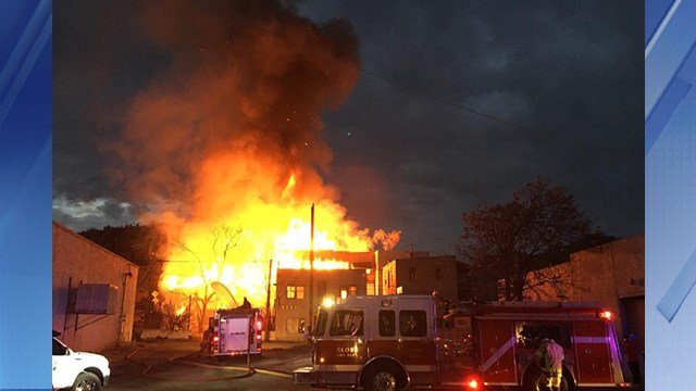 No one was hurt in the massive fire. (Source: Trish Lauck)