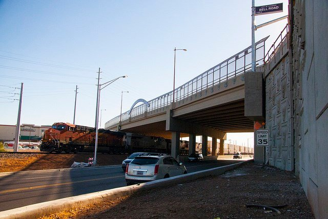 The Bell Road Bridge opened on Nov. 22. (Source ADOT via flicker)