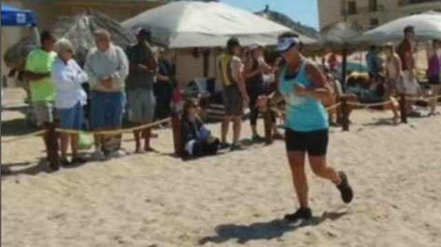 Tessa Stotts finished last year's Rocky Point Triathlon (Source: 3TV/CBS 5)