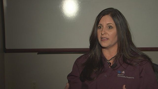 Tessa Stotts volunteers at Banner University, sharing her story with others. (Source: 3TV/CBS 5)