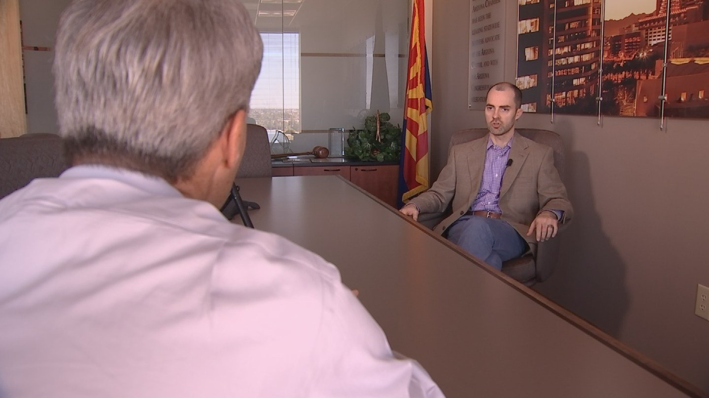 Garrick Taylor with the Arizona Chamber of Commerce says Prop. 206 should have never been on the ballot in the first place. (Source: 3TV/CBS 5)