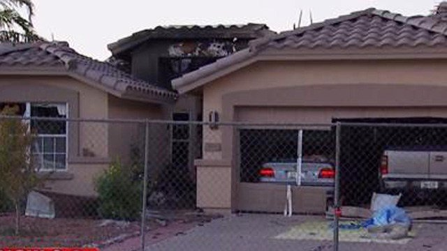 A small plane crashed into a home in Gilbert in September. (Source: 3TV/CBS 5)