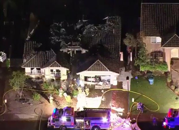A small plane crashed into a home in Gilbert. (Source: 3TV/CBS 5)