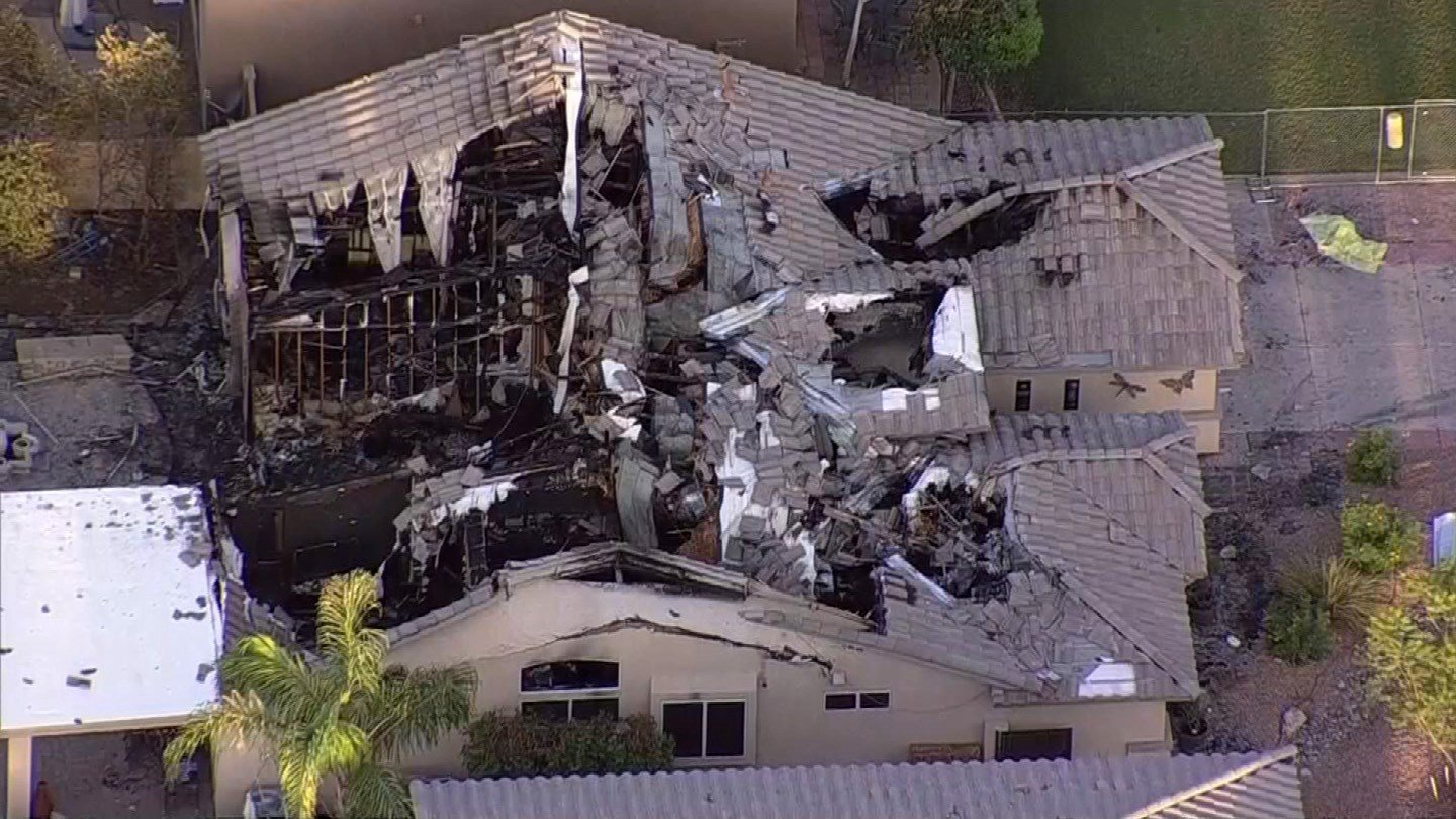 A Gilbert couple were not injured when a plane crashed into their home. (Source: 3TV/CBS 5)