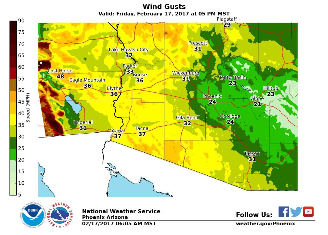 (Soure: National Weather Service Phoenix)