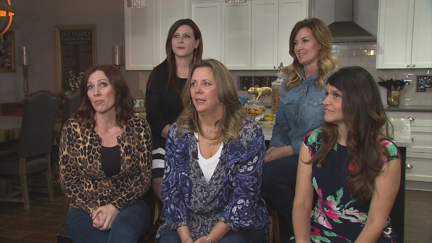 A group of women decided to make their voices heard by canceling their Nordstrom accounts. Front: Jeannie Guthrie, Amanda Bebak Lawler, Sarah Williams. Back: Amy Llewelyn, Krysta Price (Source: 3TV/CBS 5)