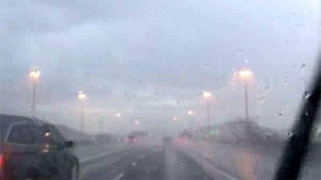 Rain in north Phoenix Saturday morning. (Source: Bonnie Loftus, 3TV/.CBS 5)