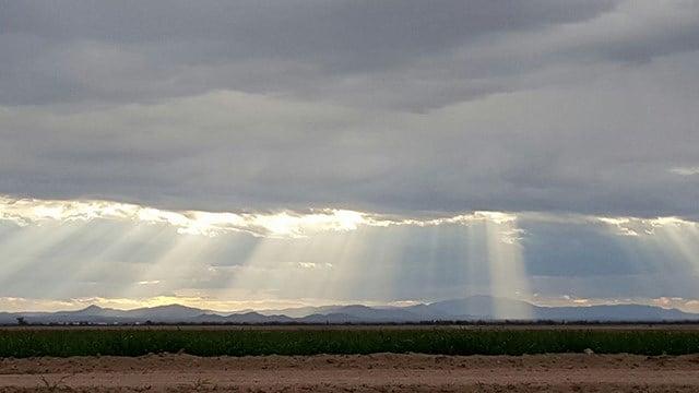 Sunrise Saturday in Coolidge. (Source: Donata Hilgeman-Montgomery)