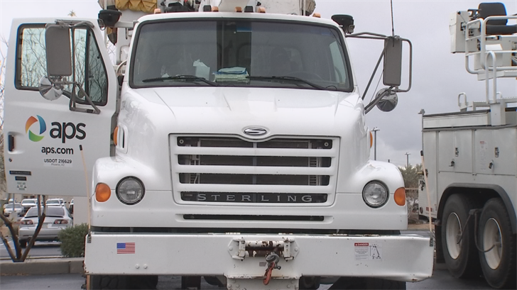 Dozens of APS workers are helping a utility company in California. (Source: 3TV/CBS 5)