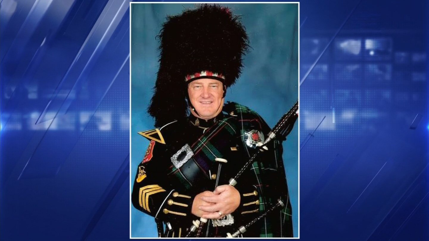 was a founding member of the Phoenix Honor Guard Bagpipe and Drum Band. (Source: 3TV/CBS 5)