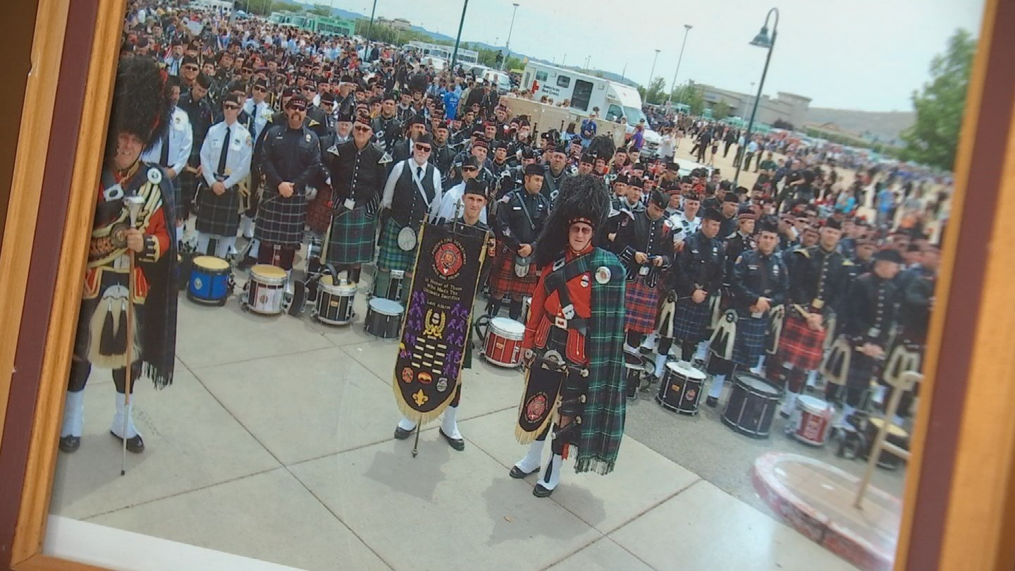 Gary's most proudful career moment was being the bagpipe major at the Yarnell 19 memorial. (Source: 3TV/CBS 5)