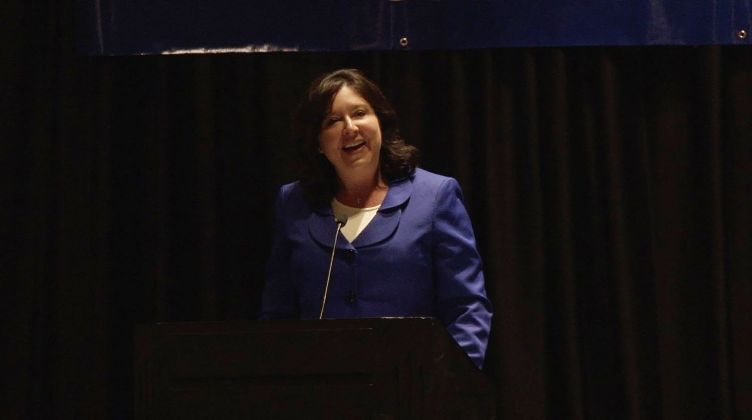 Arizona Secretary of State Michele Reagan, speaking to the National Association of Secretaries of State, said that communication with voters is one of the most important tools in a crisis. (Source: Anthony Marroquin/Cronkite News)