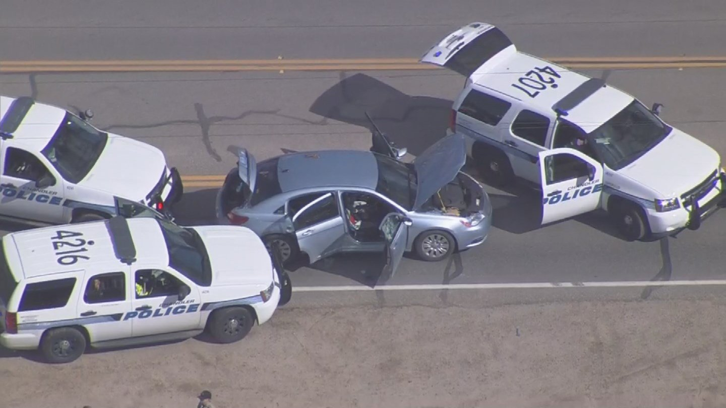 The suspect was arrested at Power and Riggs roads. (Source: 3TV/CBS 5)
