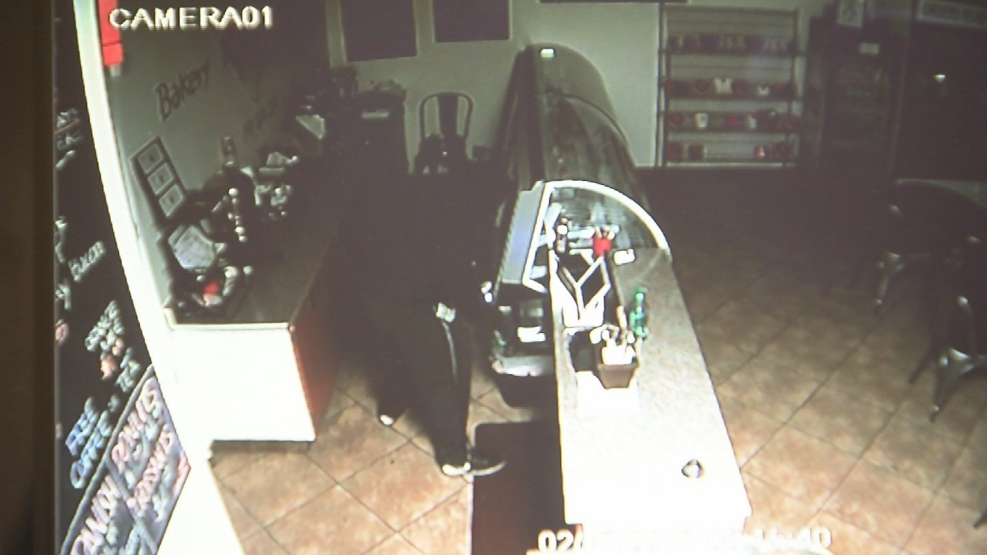 After scoping out the business, the burglar is spotted ransacking the register. (Source: 3TV/CBS 5)