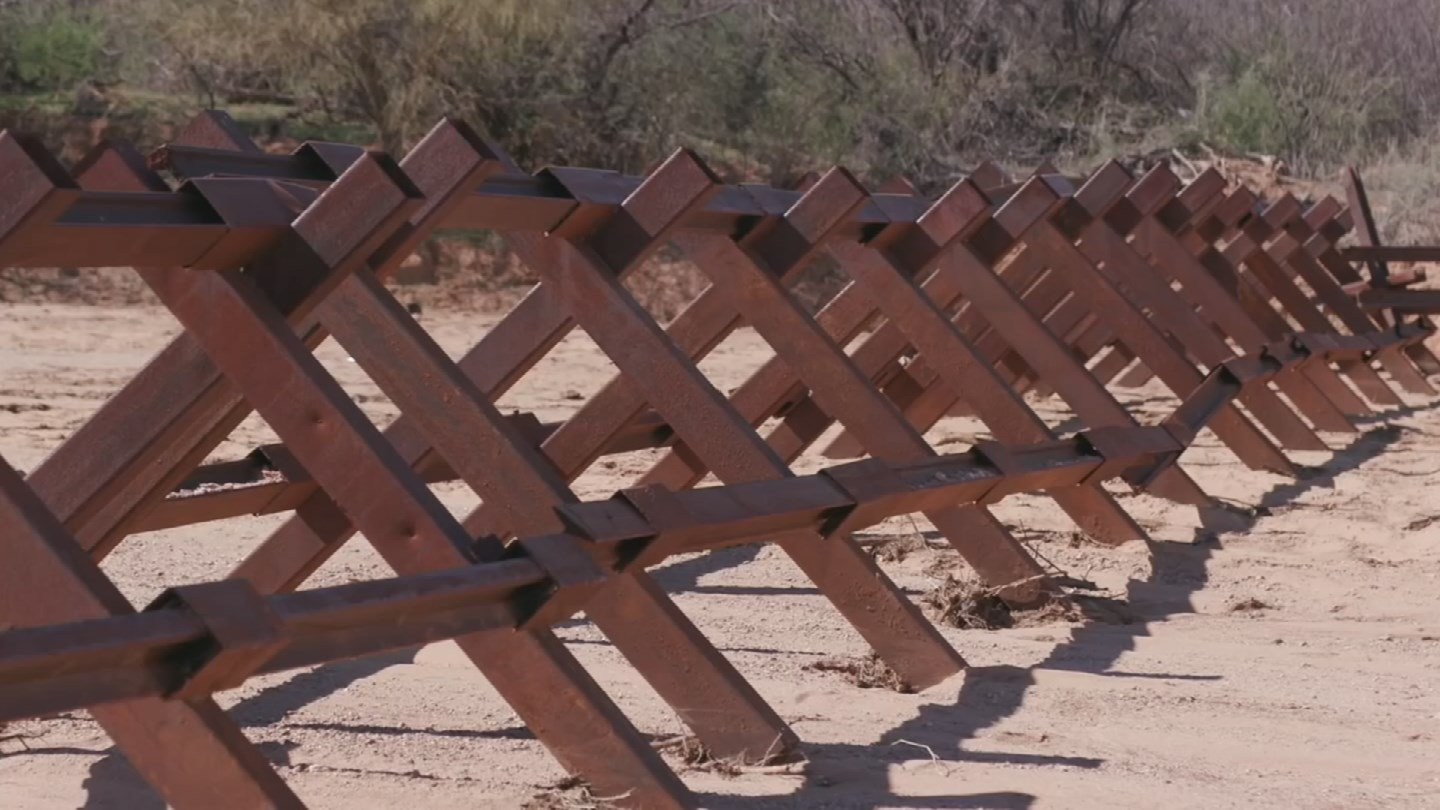 Art Del Cueto, president of the Tucson Border Patrol Local Union said the wall is an important component in a comprehensive strategy to secure the border. (Source: Tohono O'odham Nation)
