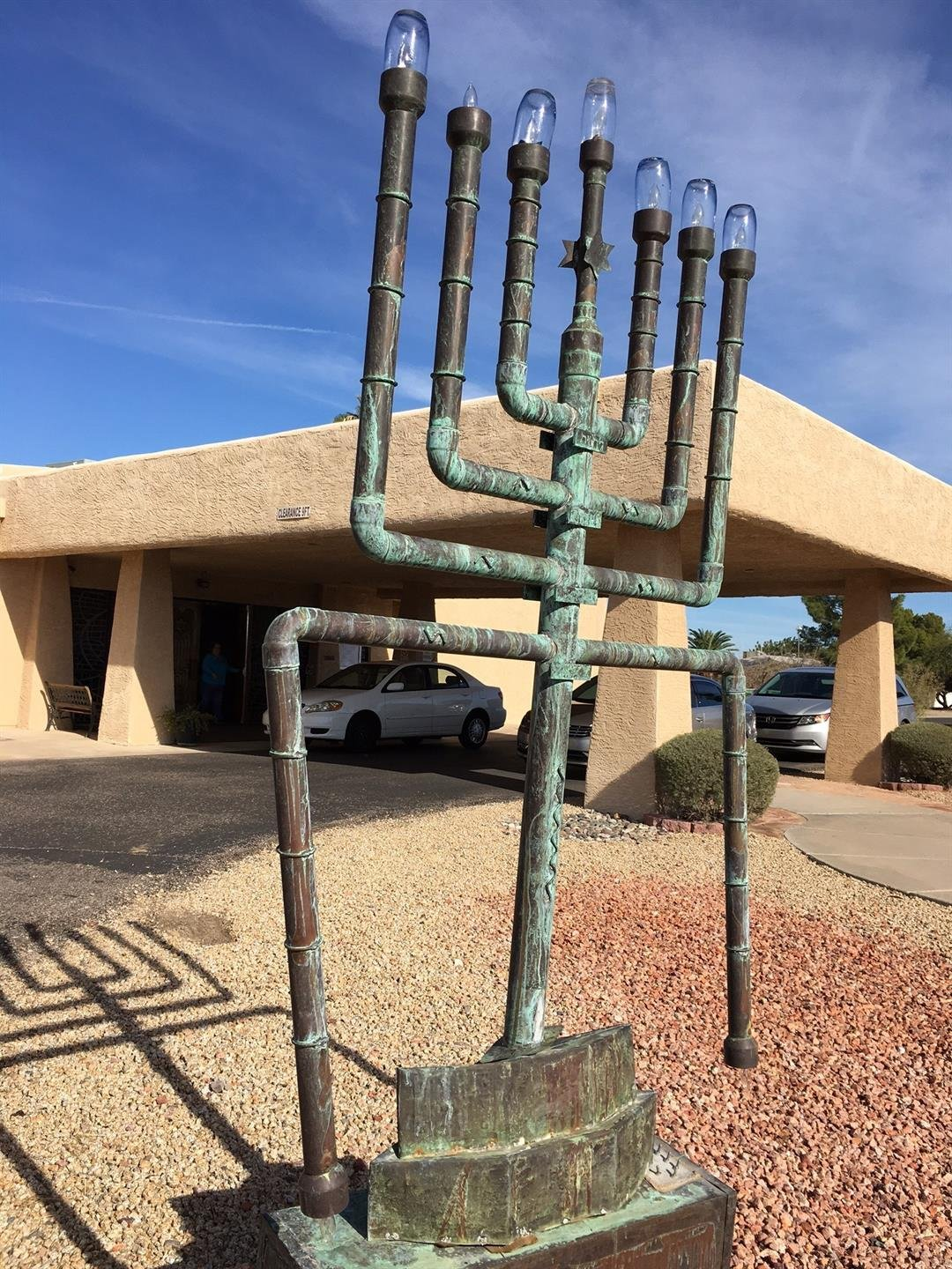 Vandals damaged Menorah at Temple Beth Shalom in Sun City. (Source: 3TV/CBS 5)