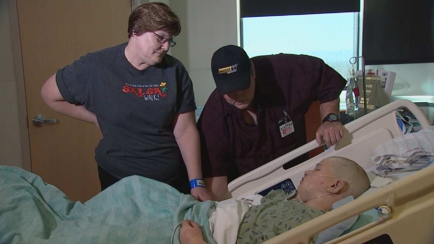 His family credits the quick action of a volunteer firefighter for saving Andrew's life. (Source: 3TV/CBS 5)