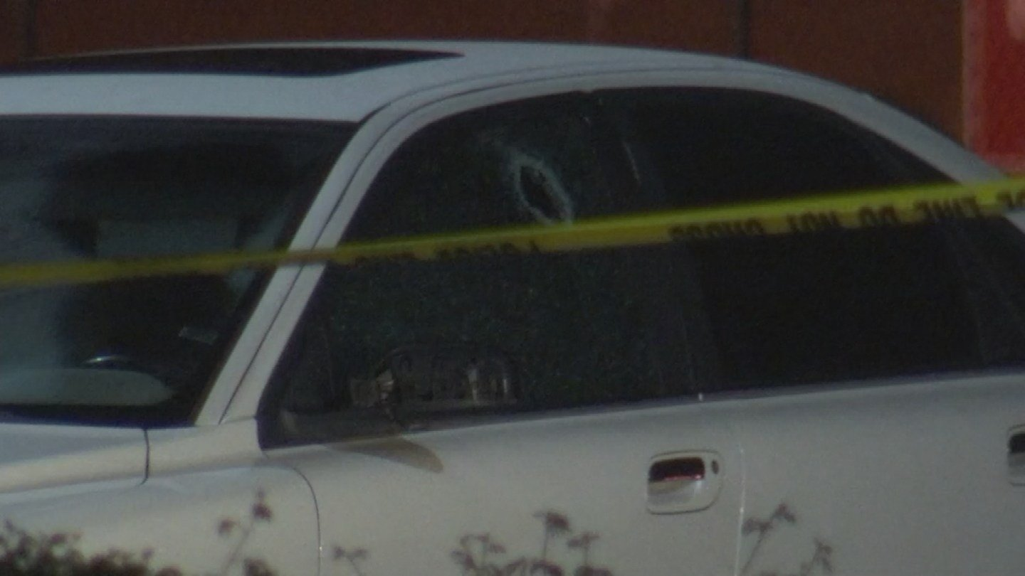 You can clearly see a large hole in the driver's side window. (Source: 3TV/CBS 5)