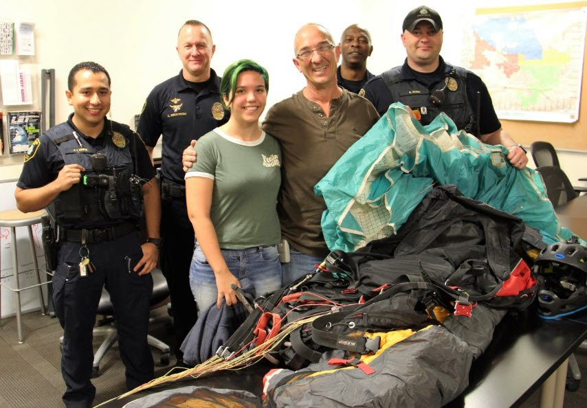 Stolen parachute returned to owner! (Source: Casa Grande PD)