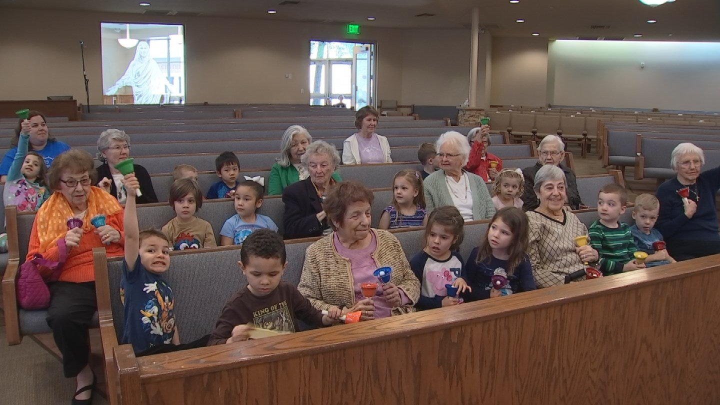 """Franzmeier directs the group some call the """"Old Youngsters"""" using color-coordinated cues. (Source: 3TV/CBS 5)"""