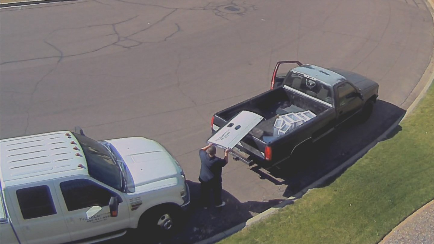 A man stole a tailgate from a pickup truck that belonged to Tel Tech Networks, Inc. (Source: 3TV/CBS 5)