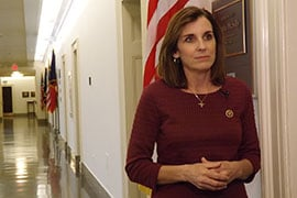 Rep. Martha McSally, R-Tucson, will meet with constituents Thursday at a town hall in Sahuarita amid mounting charges by Democrats that Republican lawmakers are avoiding meetings with voters. (Source: Madison Alder/Cronkite News)