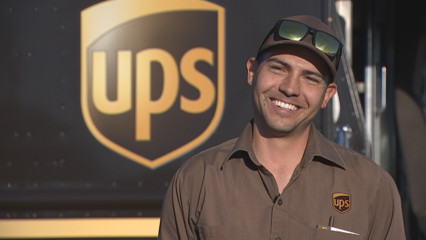 UPS employee Adam Faz helped a police officer arrest a suspect. (Source: 3TV/CBS 5)