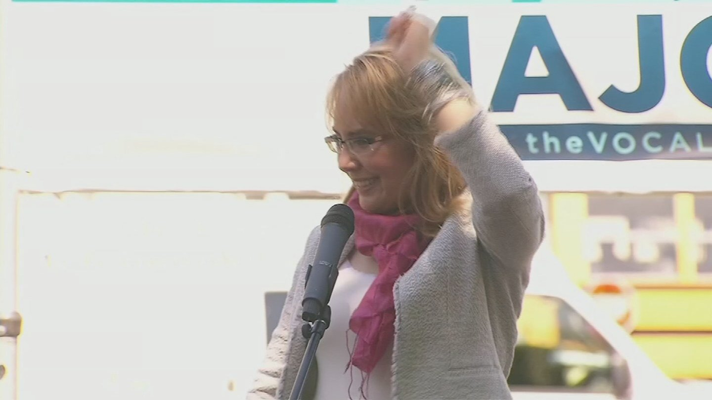 "Fomer Rep. Gabby Giffords was shot in the head during a ""Congress on Your Corner"" event in January 2011. (Source: 3TV/CBS 5)"