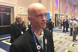Arizona State University student David Lattimer was one of thousands of students at the Conservative Political Action Conference. Lattimer thinks Trump, like Reagan, has energized young people to get involved in politics. (Source: Alexis Egeland)
