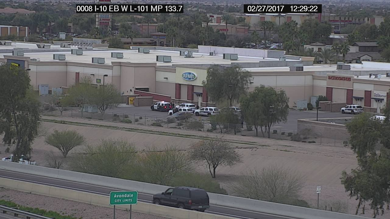 Arizona Dept. of Transportation camera from eastbound Interstate 10 and westbound Loop 101 (Source: ADOT)