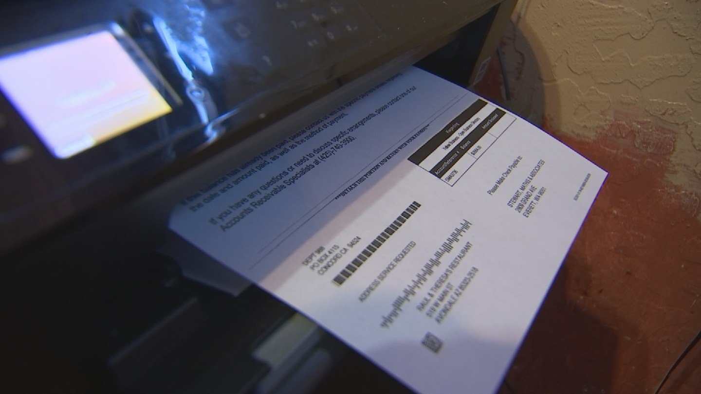 Martin Alonso said he received a fax saying he owed $3,600 in fees for advertisements. (Source: 3TV/CBS 5)