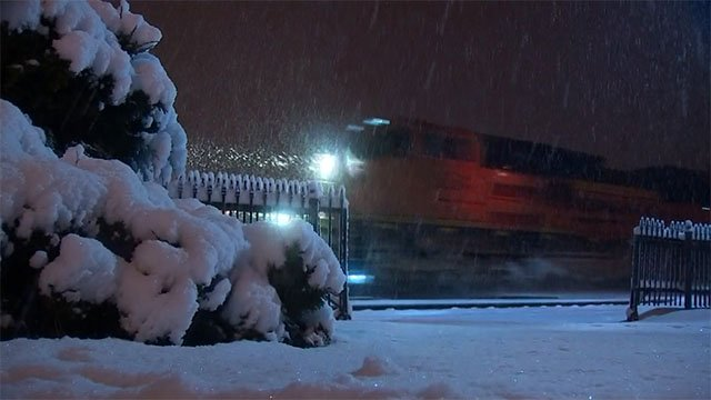 Up to 10 inches of snow fell in Flagstaff from the latest wintry blast. (Source: 3TV/CBS 5)