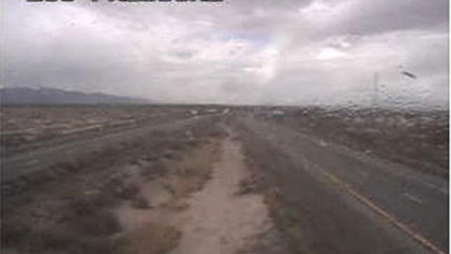 ADOT traffic camera on I-10 showing weather conditions on Sunday, when blowing dust triggered a multi-car crash. (Source: ADOT)