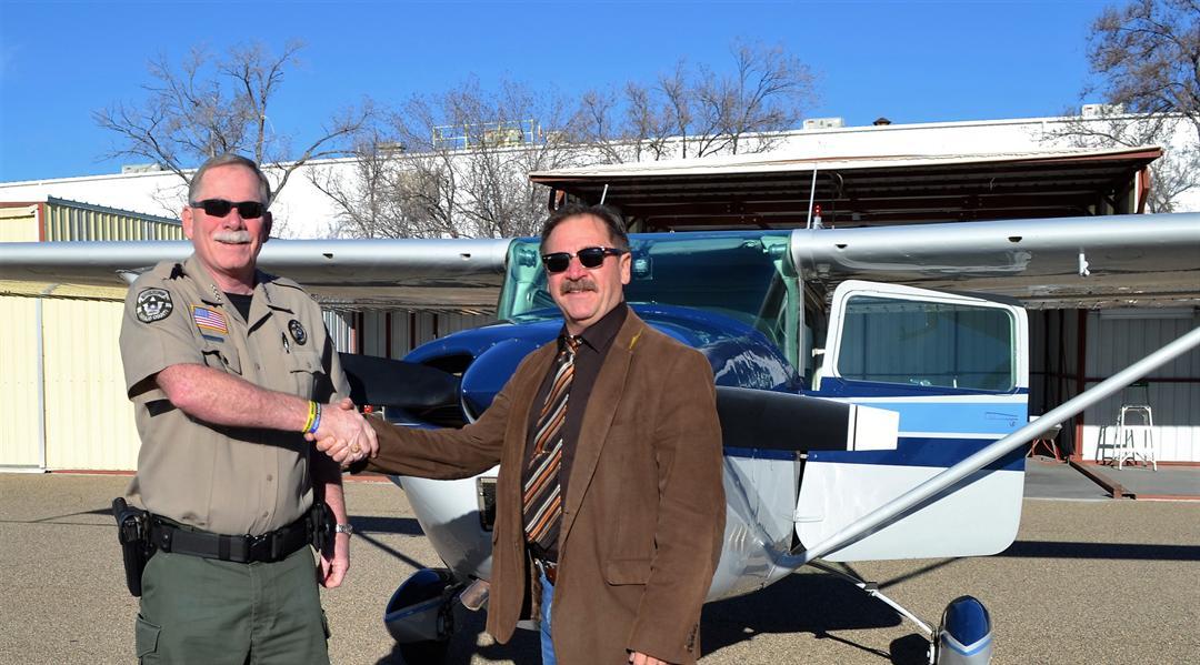 YCSO Sheriff Scott Mascher (left) and Navajo County Sheriff K.C. Clark. (Source: Yavapai County Sheriff's Office)
