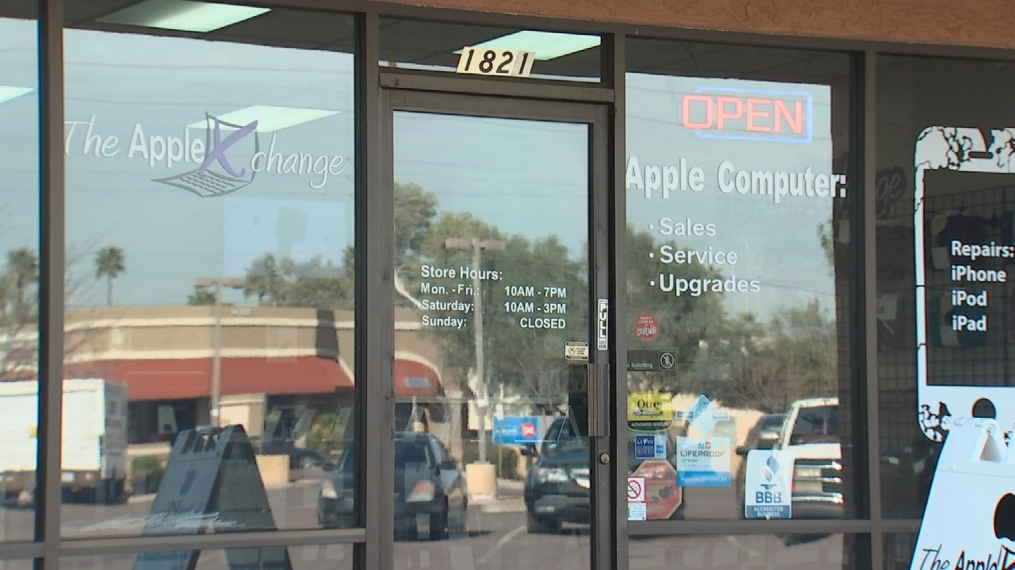 The Apple Xchange is located near Southern and McClintock in Tempe. (Source: 3TV/CBS 5)