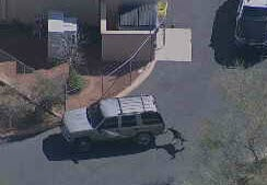 Suspect fires shots at DPS trooper's marked car; police surround suspect's vehicle (Source: 3TV/CBS 5)