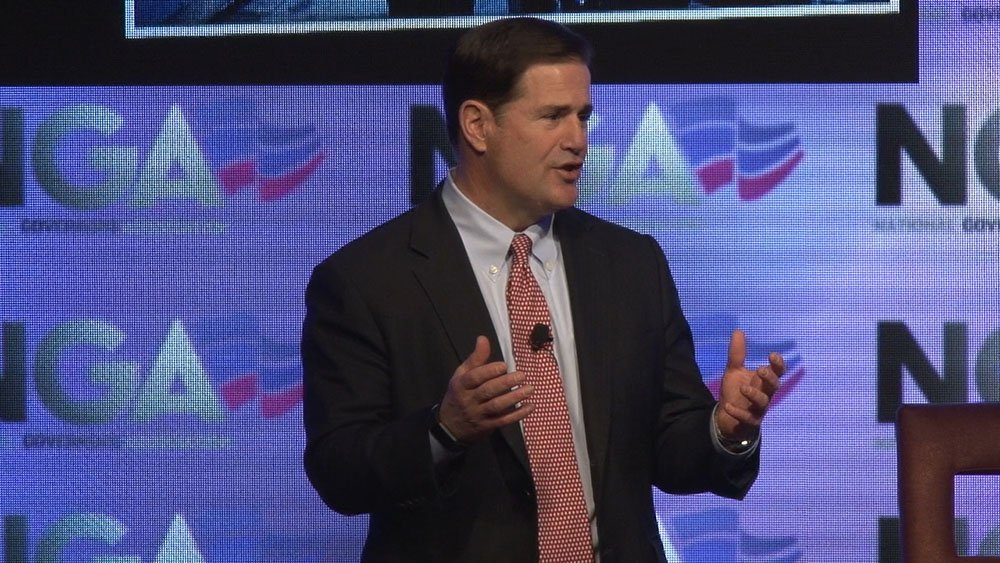 Gov. Doug Ducey challenged his colleagues at the National Governors Association to push for civics education in their schools to address what he sees as a lack of civic engagement. (Source: Dustin Quiroz/Cronkite News)